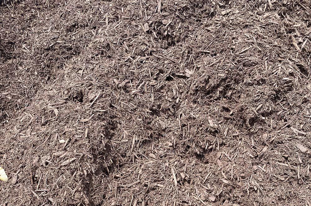 brown mulch